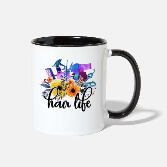 Hair Mugs & Drinkware - Hair Stylist - Two-Tone Mug white/black