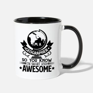 Geographic Geographer - Contrast Coffee Mug