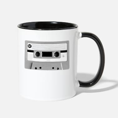 Cassette Destroyed Retro Cassette | Add Your Own Text - Two-Tone Mug