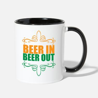 Beer In Beer Out For Beer Lover beer in beer out - Two-Tone Mug