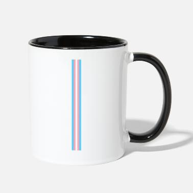 Lgbtq Gay Pride LGBT Transgender Long Stripe Flag - Two-Tone Mug