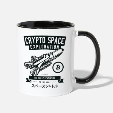 Space Exploration Crypto Space Exploration - Two-Tone Mug