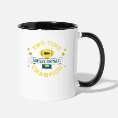 Fantasy Two Time Champion Fantasy Football - Two-Tone Mug