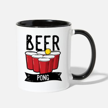Drinks Beer Pong Team Drinking Game Friends - Two-Tone Mug