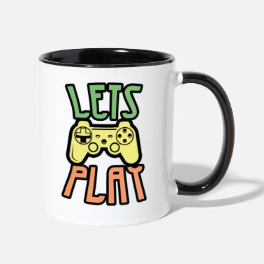 Lets Play Lets Play - Two-Tone Mug