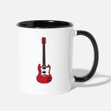 Eguitar music guitar eguitar guitarist musician play gift - Two-Tone Mug