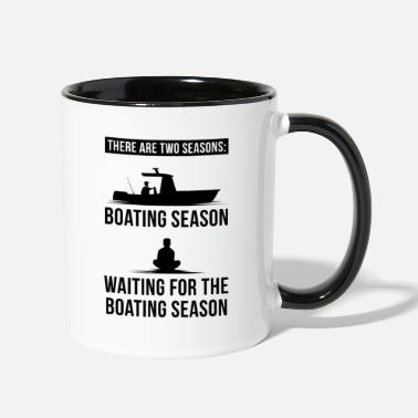 Boat Boating - Boating Season - Two-Tone Mug