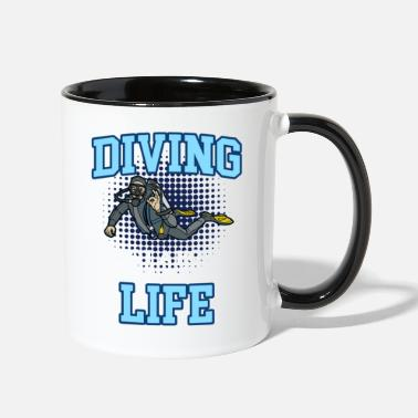 Deep Sea Diver DIVING LIFE Funny Deep Sea Diver - Two-Tone Mug