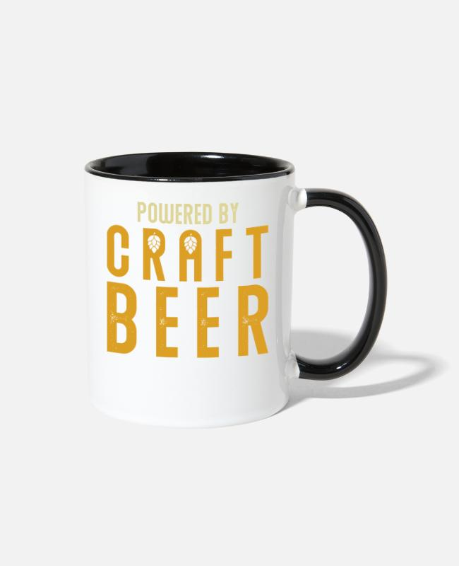 Party Mugs & Cups - Beer Craft Beer - Two-Tone Mug white/black