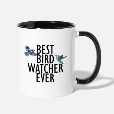 Bird best bird watcher ever - Two-Tone Mug