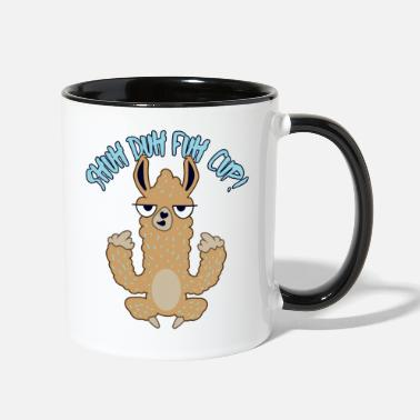 Her Shuh Duh Fuh Cup Alpaca Quote - Two-Tone Mug