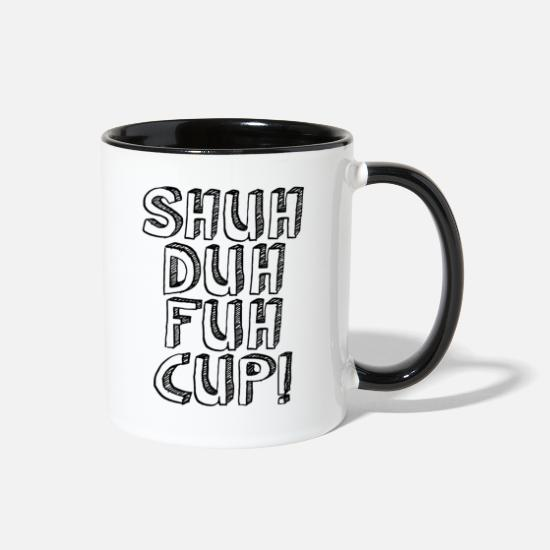 Up Mugs & Drinkware - Shuh Duh Fuh Cup Scribble - Two-Tone Mug white/black