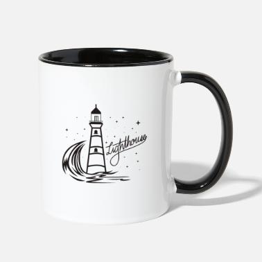 North Sea Lighthouse Coast North Sea Holiday Gift - Contrast Coffee Mug