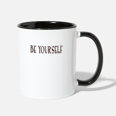 Yourself be yourself - Contrast Coffee Mug