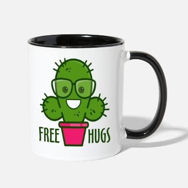 Silly Free Hugs - Two-Tone Mug