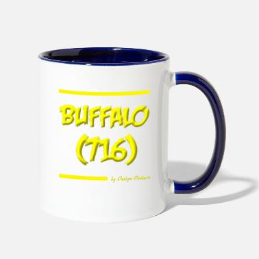 Area Code BUFFALO 716 YELLOW - Two-Tone Mug