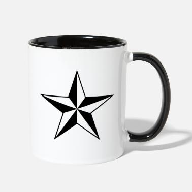 Protection Guidance Good Nautical star protection guidance good luck symbol - Two-Tone Mug