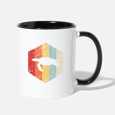 Turtles Armor Retro Turtle - Two-Tone Mug