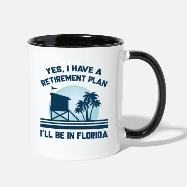 Floridian Retirement Florida - Two-Tone Mug