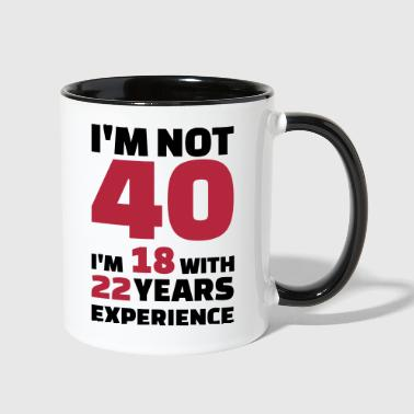 40 Birthday - Contrast Coffee Mug