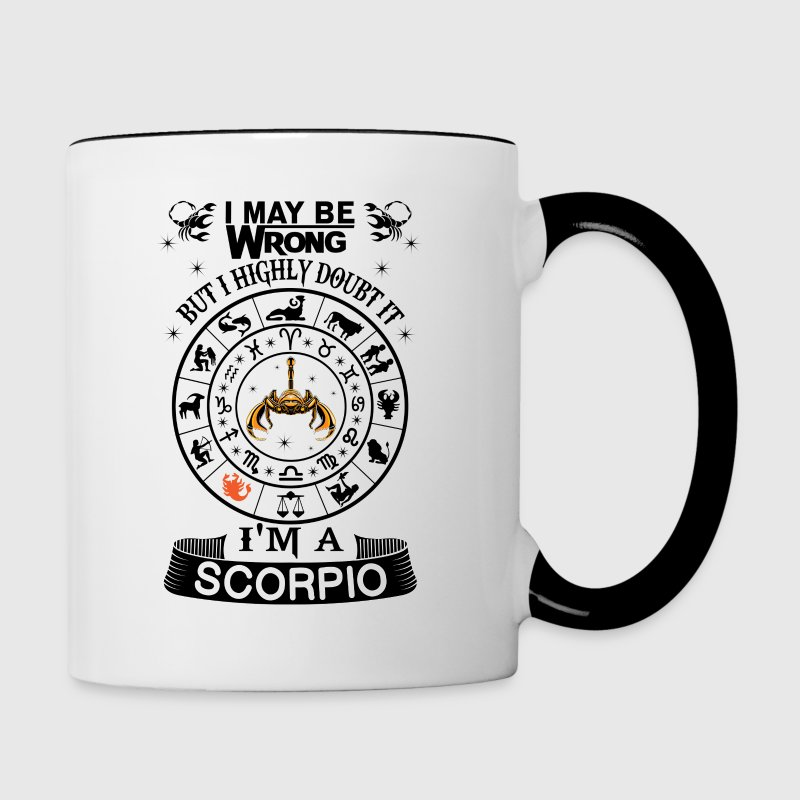 I AM A SCORPIO - Contrast Coffee Mug