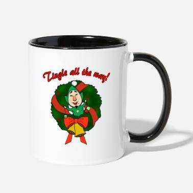 Christmas Tingle All the Way - Two-Tone Mug