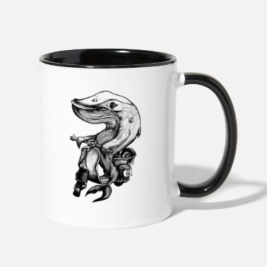 Black And White Collection Scooter Whale - Two-Tone Mug