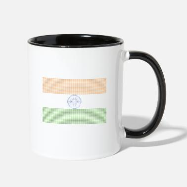 New Delhi Indian Flag New Delhi - Two-Tone Mug