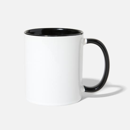 Army Wife Mugs & Drinkware - Army Veteran Army Vet Army Grandpa Army Military V - Two-Tone Mug white/black