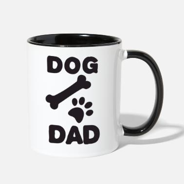 Paws Dogs dog dad paw - Two-Tone Mug