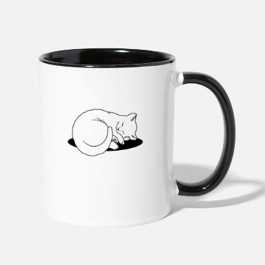 Sleeping Cat Sleeping Cat - Two-Tone Mug