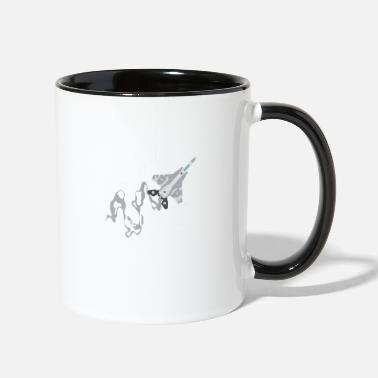 Aviation ace of spades aviator quote - Two-Tone Mug