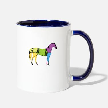 Pony Stall Horse Pony Stall Animal Horseshoe Saddle Gift - Two-Tone Mug