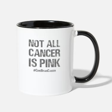 Brain Not All Cancer Is Pink - Two-Tone Mug