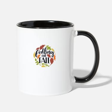 Fall Falling for fall - Two-Tone Mug