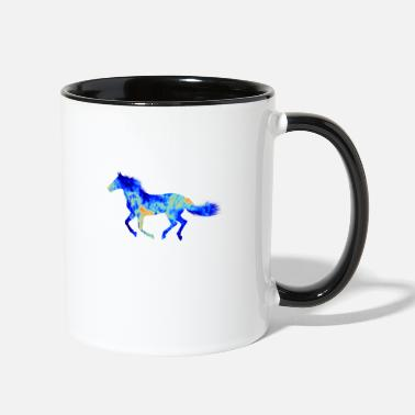Gallop horse - Two-Tone Mug