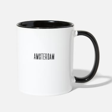 Frame Amsterdam streched letters - Two-Tone Mug