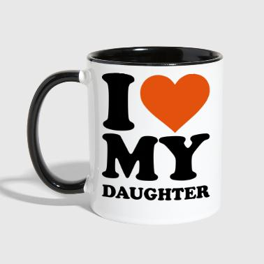 Daughter I love my daughter - Contrast Coffee Mug