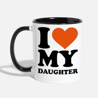 Love I love my daughter - Contrast Coffee Mug