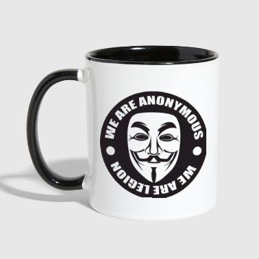 We Are Anonymous - Contrast Coffee Mug