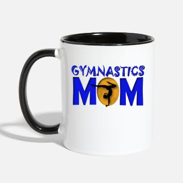 Proud Gymnastics Mom - Contrast Coffee Mug