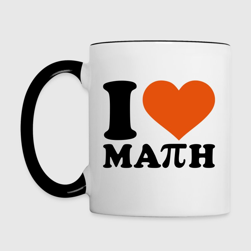 I love Math - Contrast Coffee Mug