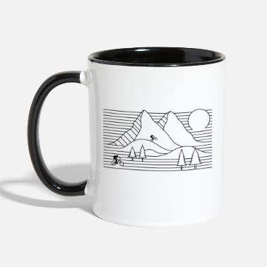 Mountain Biking mountain bike mountain biking cycling - Contrast Coffee Mug