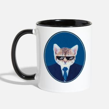 Urban Thug Cat - Funny Cat - Two-Tone Mug
