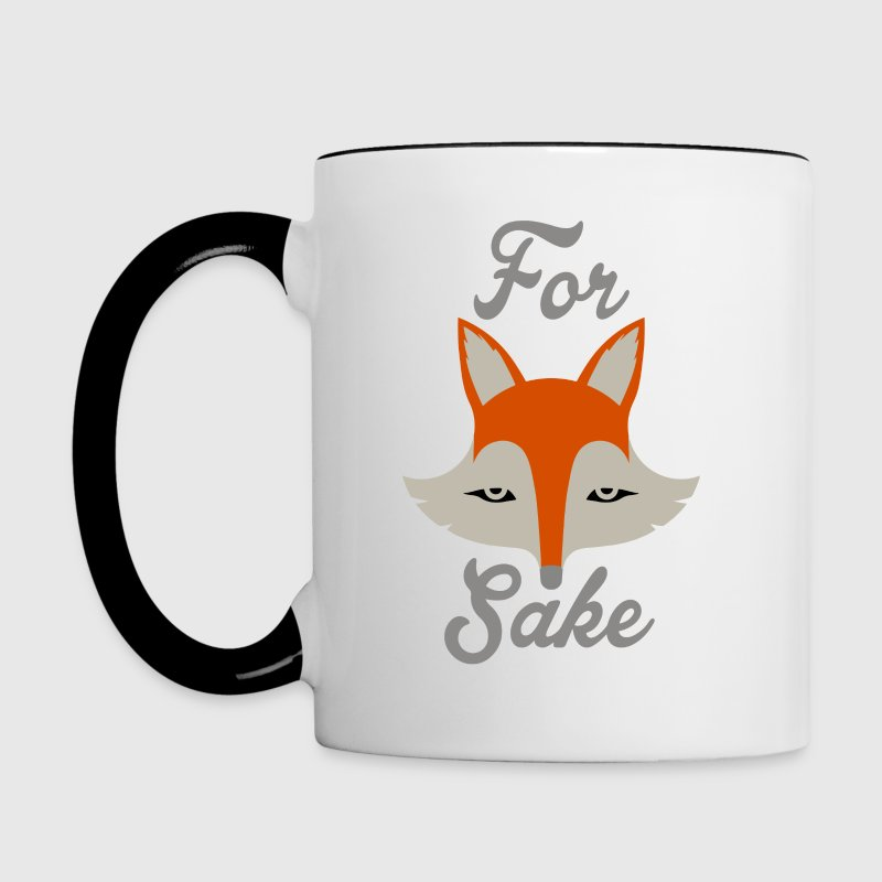 For Fox Sake - Contrast Coffee Mug