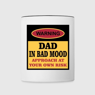 Dad In Bad Mood - Contrast Coffee Mug