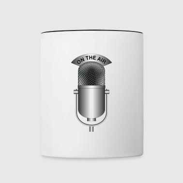 on the air silver - Contrast Coffee Mug