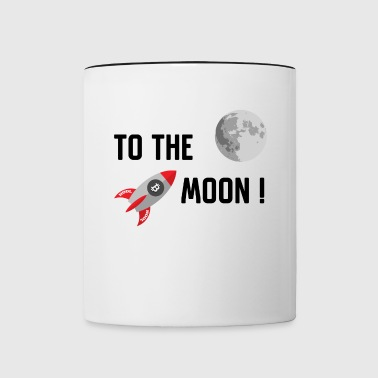 Bitcoin To the moon - Contrast Coffee Mug