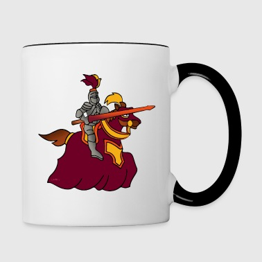 knight warrior templar fantasy - Contrast Coffee Mug