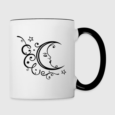 Filigree moon with stars. - Contrast Coffee Mug